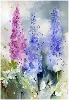 Watercolour Florals: May 2013