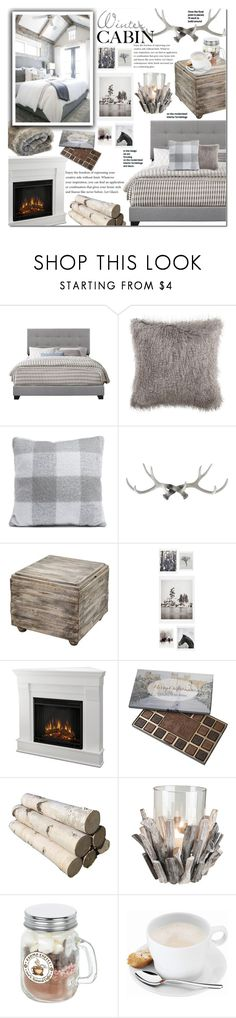 """Winter cabin"" by mery90 ❤ liked on Polyvore featuring interior, interiors, interior design, home, home decor, interior decorating, Safavieh, Uttermost, DENY Designs and Foreside"