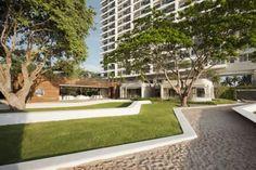 Sales Office of Condominiums by the Sea Terraces. Baan San condominium development Kramm, designed by Somdoon Architects. Baan San condominium development Kramm, designed by Somdoon Architects.
