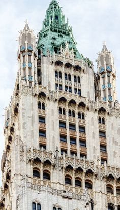 Top of the Woolworth building, NYC, 233 Broadway, Financial District, Lower Manhattan, NYC. Still exists with original lobby from 1913