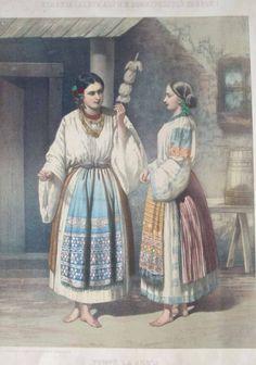 Carol Popp de Szathmáry, Port in Arges Folk Costume, Costumes, Folk Fashion, Byzantine, Fashion History, Alter, Romania, Art Images, Sketches