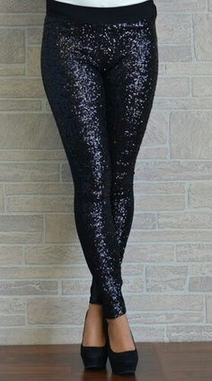 Black sparkly leggings