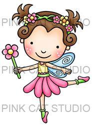 Lily Flower Fairy - pink cat studio