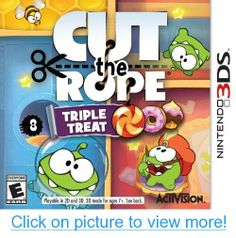 Cut the Rope: Triple Treat is a collection of three of ZeptoLab's Cut the Rope games. This collection includes the original Cut the Rope and its two major expansions, Cut the Rope: Experiments and Cut the Rope: Time Travel. Nintendo 3ds Games, Nintendo Switch, Wii Games, Playstation, Xbox, Activision Blizzard, Triple Treat, 3d Mode, Candy