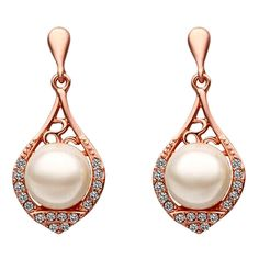 Buy Beora 18k Gold Plated Crystal Pearl Stud #Earring Rs. 399.00 Only. We offer free shipping and Cash on Delivery (COD) all over the India. #women #fashion #jewellery #india