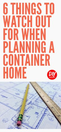 Container Homes are a great way to make your tiny house dreams come true. Using shipping containers can present some challenges. Here are some container house planning tips to help you out. Container Van, Sea Container Homes, Building A Container Home, Storage Container Homes, Container House Design, Storage Containers, Container Architecture, Container Buildings, Used Shipping Containers