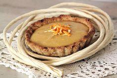 © PIGUT - Tarte à la clémentine végétalienne Tarte Vegan, Facon, Custard, 20 Minutes, Pie, Sweets, Cooking, Frugal, Desserts