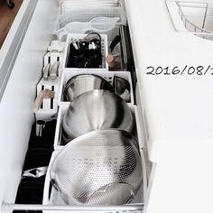 ブログ更新しました。,100均,シンク下収納,実用性UP,キッチンの収納見直し takimoto-manamiの部屋