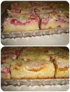 kynutý ovocný koláč s tvarohem a drobenkou Sweet Cakes, Vanilla Cake, Food And Drink, Baking, Recipes, Basket, Fine Dining, Bakken, Backen