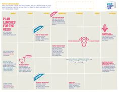 Free printable Months of School Lunches calendar for healthy school lunch inspiration | at Rock the Lunch Box
