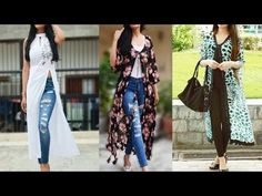 5da1a32f888 Denim kurti designs to wear with jeans  palazo pants