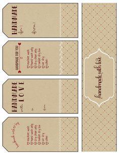 Free Printable Gift Tags Handmade With Love