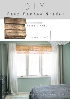 Make your own bamboo blinds from fencing to save $$$.