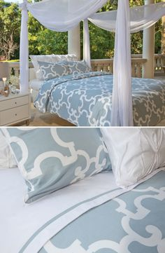 Sleep chic in beautiful bedding, duvets and sheets for your modern home.