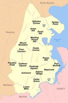 Areas of Dorchester, Ma.