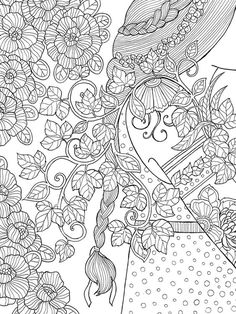 coloring lady colorir