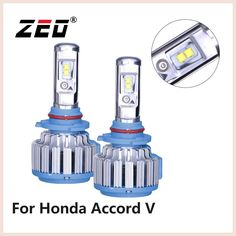 For HONDA ACCORD V Aerodeck/Coupe 6000Lm Super Bright H4 LED CANBUS H1 LED Car Headlight H1 H4 6000K Cold White Auto Headlamps