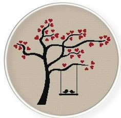 Image result for cross stitch tree