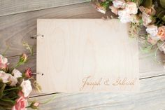 Wood Wedding Guestbook Rustic Wedding Guestbook Guest by woodlack, $35.00