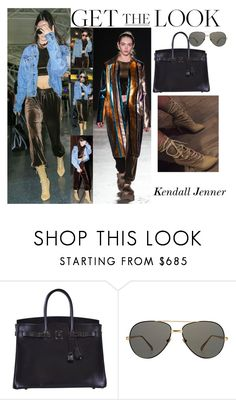"""""""Kendall Jenner With Hailey Baldwin New York City January.12.2017"""" by valenlss ❤ liked on Polyvore featuring JFK, Hermès, Linda Farrow and Baldwin"""