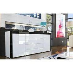 Buffet blanc laqu on pinterest buffet design bahut design and meuble pas - Buffet design pas cher laque blanc ...