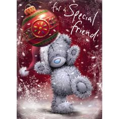 Special Friend Me to You Bear Christmas Card  £1.79