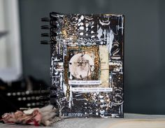 "Art journal cover with Finnabair products""journal#mixedmedia#cover#vintage"