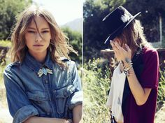 The 2 Bandits' latest look book and collection of Southwest inspired cuffs, rings, earrings and necklaces