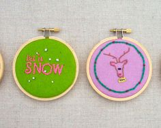 Miniature Christmas Embroidery Hoops--free