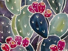 Prickly Pear Cactus Watercolor Painting Notecards and Prints by Natalie Fruciano — Kickstarter