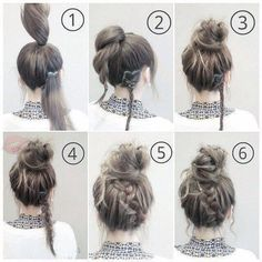 Hair Styles For School Perfect simple bread roll. ... #beautyhacksforschool Skin Care