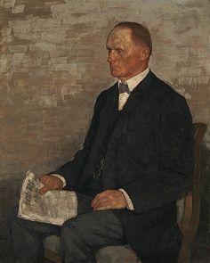 Portrait of Dr. Theodor Reinhart, 1907 by Karl Hofer (German 1878-1955)