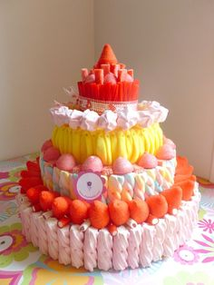 Tartas Sweet Trees, Marshmallow Treats, Candy Cakes, Candy Bouquet, Candy Party, Holiday Cakes, Candy Gifts, Cake Shop, Sweet Recipes