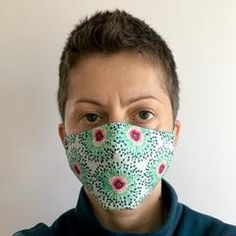 Free Face Mask Pattern and Tutorial – Dhurata Davies Easy Face Masks, Diy Face Mask, Home Sew, Diy Mask, Fashion Face Mask, Sewing Techniques, Sewing Patterns Free, Mask For Kids, Sewing Projects