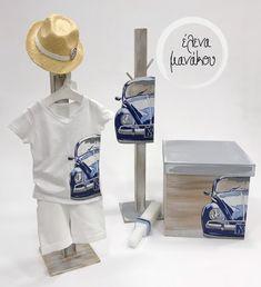 ace983eb4a3 BEETLE CAR Κωδικός προϊόντος: A19-002 Βαπτιστικό κουτί φορετό 85€ Λαμπάδα  κηροστάτης 95€ Σετ ρούχου 84€ Καπέλο 20€ #elenamanakou #newcollection #2019  ...