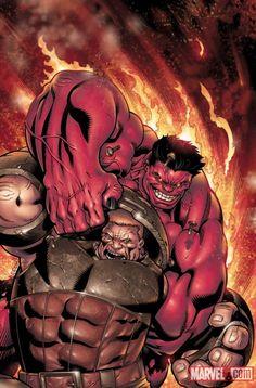#Red #Hulk #Fan #Art. (Red Hulk Vs Juggernaut) By: Ed McGuinness. (THE * 5 * STÅR * ÅWARD * OF: * AW YEAH, IT'S MAJOR ÅWESOMENESS!!!™)[THANK U 4 PINNING!!!<·><]<©>ÅÅÅ+(OB4E)