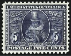 5c Jamestown stamp auctions with 2,964% increase on estimate