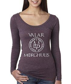 PURPLE SIZE LARGE!!!    New Way 170 - Women's Long Sleeve T-Shirt Valar Morghulis... https://www.amazon.com/dp/B018RJRUN0/ref=cm_sw_r_pi_dp_x_aVFoyb34PA9PK