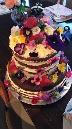 Naked Cake Birthday Cake Secret Garden edible flowers