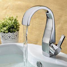 Elegant Brass Bathroom Faucet - Chrome Finish - FaucetSuperDeal.com
