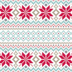 Nordic pattern Christmas Card, available from notonthehighstreet.com