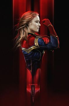 Brie Larson as Captain Marvel by BossLogic - Visit to grab an amazing super hero shirt now on sale! Marvel Avengers, Marvel Comics, Heros Comics, Marvel Women, Marvel Heroes, Miss Marvel, Marvel Live, Marvel Universe, Marvel Fanart