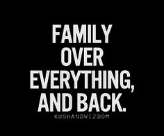 Too bad not everyone understands this concept of Family First.