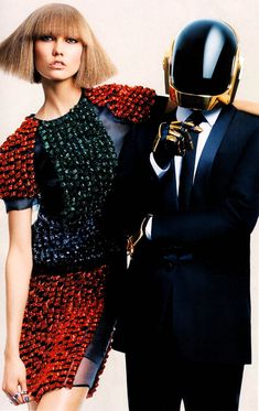 """""""All-Ages Show""""  Karlie Kloss  &  Daft Punk by Craig McDean  for  Vogue US  August 2013 #editorial"""