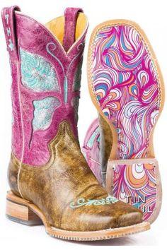 c7587ecd006 Women s Boots Tan Glitterfly Tin Haul Boot With Swirl Sole. Urban Western  Wear