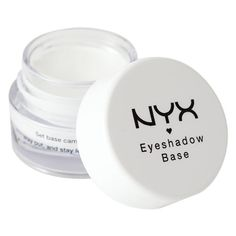 Nyx Cosmetics Eye Shadow Base - NYX cream based eye primer: Intensifies the impact of any eye shadow Helps color last longer White helps magnify eye shadow shades up to their original effect Is a must for every artists makeup kit. Nyx Eyeshadow, White Eyeshadow, Makeup Dupes, Makeup Kit, Skin Makeup, Applying Eyeshadow, Makeup Guide, Makeup Ideas, Best Eye Primer