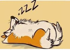 """in favorite position for sleeping and to be in just in case you want to stop and give the corgi a """"belly rub"""".another favorite thing Cute Corgi, Corgi Dog, Cute Puppies, Corgi Cartoon, Belly Paint, Corgi Pictures, Pembroke Welsh Corgi, Dog Art, Dog Life"""