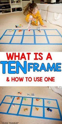 Ten Frame Activities, Preschool Learning Activities, Toddler Activities, Kids Learning, Number Games Preschool, Math Games For Preschoolers, Toddler Preschool, Number Sense Kindergarten, Kindergarten Math Activities