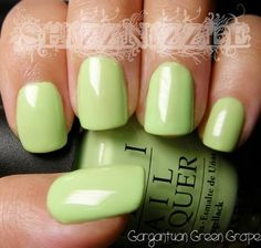 So excited! Just got this one!   OPI Gargantuan Green Grape