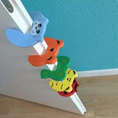 Baby Magnetic Lock - 5pcs Animal Baby Security Card Protection Door Stopper